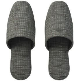 布製吊り込みスリッパ フェア2 チャコールグレー 大きめM 1足 富士工業