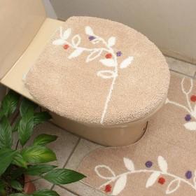 HOME COORDY 消臭加工 トイレふた OU型 リーフ ベージュ ホームコーディ ベ-ジユ OU型 トイレ用品