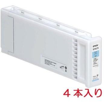 EPSON インクカートリッジ(シアン700ml×4本入り)(SC10C70P)
