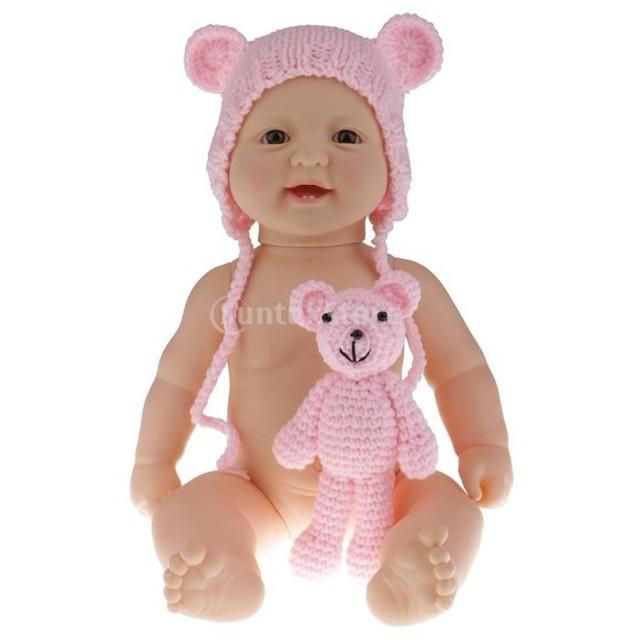 6d0412cf545f24 KOZEEY リアル おもちゃ シリコーン製 ベビードール ソフトビニール 全6色 - #3女の子
