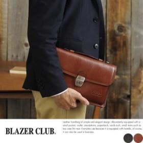 BLAZER CLUB ハンドル付き多機能かぶせセカンドバッグ No.25827-01 BLAZERCLUB 鍵付き多機能セカン