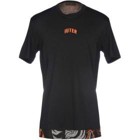 《期間限定セール開催中!》IUTER メンズ T シャツ ブラック XXL コットン 100% / ポリエステル