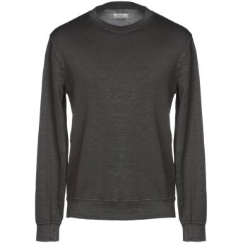 《セール開催中》AUTHENTIC ORIGINAL VINTAGE STYLE メンズ スウェットシャツ スチールグレー S 麻 66% / コットン 30% / ポリウレタン 4%