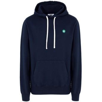 《期間限定セール開催中!》WOOD WOOD メンズ スウェットシャツ ダークブルー S コットン 100% Ian-hoodie