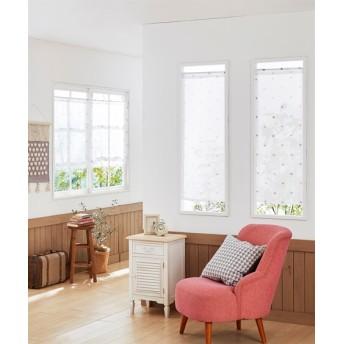 シンプルネコ柄。小窓用カフェカーテン のれん・カフェカーテン