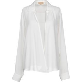 《期間限定セール開催中!》MICHAEL KORS COLLECTION レディース シャツ ホワイト XS 100% シルク
