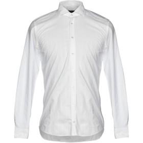 《期間限定 セール開催中》MESSAGERIE メンズ シャツ ホワイト 39 100% コットン
