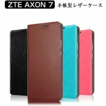 ZTE AXON 7 ケース/カバー 手帳 レザー シンプル おしゃれ AXON 7 手帳型ケース/カバー スマフォ スマホ スマートフォンケース/カバー