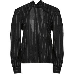《期間限定 セール開催中》MSGM レディース シャツ ブラック 40 100% コットン