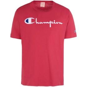 《期間限定 セール開催中》CHAMPION REVERSE WEAVE メンズ T シャツ レッド S コットン 100% CREWNECK T-SHIRT LOGO