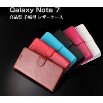 Galaxy Note7 ケース/カバーレザー カバー ギャラクシーNote7手帳型ケース/カバー スマフォ スマホ スマートフォンケース/カバー
