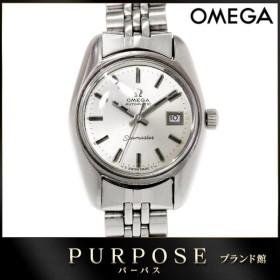 オメガ OMEGA シーマスター レディース 腕時計 cal.684 シルバー 文字盤 デイト 自動巻き オートマ ウォッチ アンティーク