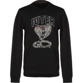 《期間限定セール開催中!》IUTER メンズ スウェットシャツ ブラック XXL コットン 100%