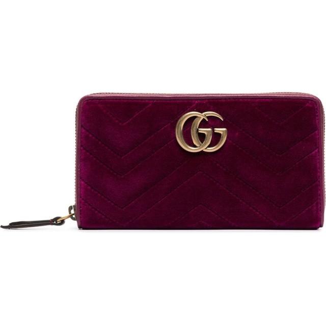 228d2220429e Gucci GGマーモント ベルベット 長財布 - ピンク 通販 LINEポイント最大 ...