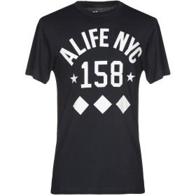 《セール開催中》ALIFE メンズ T シャツ ダークブルー S コットン 100%