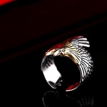 ゴールデンイーグルステンレスリング(RMT077)サイズ/26号/27号/28号/29号/30号 鷲 ワシ 鳥 金色 おもしろ ユニーク 指輪 サージカルス