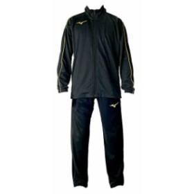 【キャッシュレスでP5%還元】 ミズノ  MIZUNO ジュニア ウォームアップシャツ&パンツ 上下セット ブラック