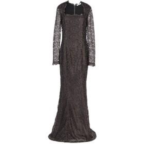 《セール開催中》BLUMARINE レディース ロングワンピース&ドレス ダークブラウン 38 100% ポリエステル ナイロン
