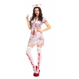 ハロウィン コスプレ コスチューム 仮装 レディース クリスマス ホラー ゴースト ナース ヴァンパイア セクシー ミニスカート 2837