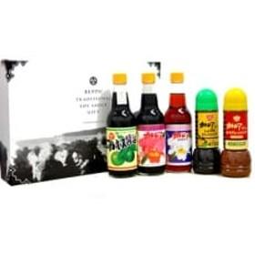 カトレア醤油・かぼす醤油・カトレアホワイト醤油各360mlとドレッシング2種のギフトセット