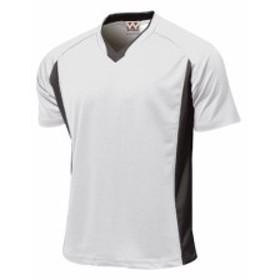 WUNDOU (ウンドウ) ベーシックサッカーシャツ ホワイト P-1910J 1710 キッズ ジュニア 子供 子ども