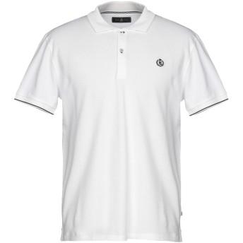 《期間限定セール開催中!》HENRI LLOYD メンズ ポロシャツ ホワイト S コットン 100%