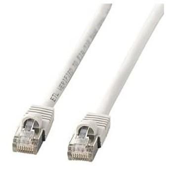 サンワサプライ STPエンハンスドカテゴリ5LANケーブル 単線4対シールドツイストペアケーブル ツメ折れ防止カバー付 1m ライトグレー KB-STP-01LN