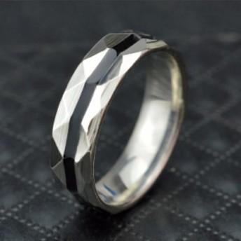 シンプル ブラックライン ステンレス メンズ リング メンズリング 指輪 男性 メンズアクセ メール便 即日発送 送料無料