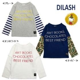 【30%OFFセール】ディラッシュ〔DILASH〕重ね着風長袖Tシャツ