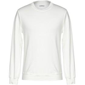 《期間限定セール開催中!》AUTHENTIC ORIGINAL VINTAGE STYLE メンズ スウェットシャツ アイボリー S 麻 66% / コットン 30% / ポリウレタン 4%
