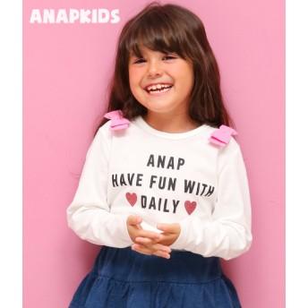 【セール開催中】ANAP KIDS(キッズ)肩リボンロンT