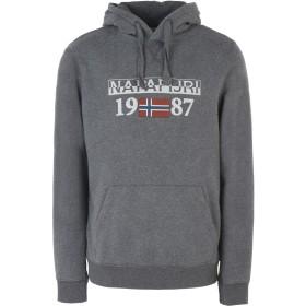 《期間限定セール開催中!》NAPAPIJRI メンズ スウェットシャツ グレー XL コットン 90% / ポリエステル 10% BERTHOW LOGO