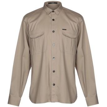 《9/20まで! 限定セール開催中》TAKESHY KUROSAWA メンズ シャツ ベージュ S コットン 97% / ポリウレタン 3%