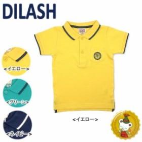 【30%OFFセール】【DILASH】ディラッシュ 半袖綿ポロシャツ (イエロー)(80~110センチ)