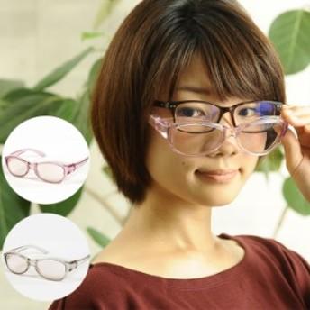 メガネ 拡大鏡 両手が使える高倍率拡大鏡(ブルーライトカット)