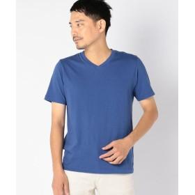 【30%OFF】 シップス SC: ガーメントダイ オーガニック Vネック Tシャツ メンズ ネイビー SMALL 【SHIPS】 【セール開催中】