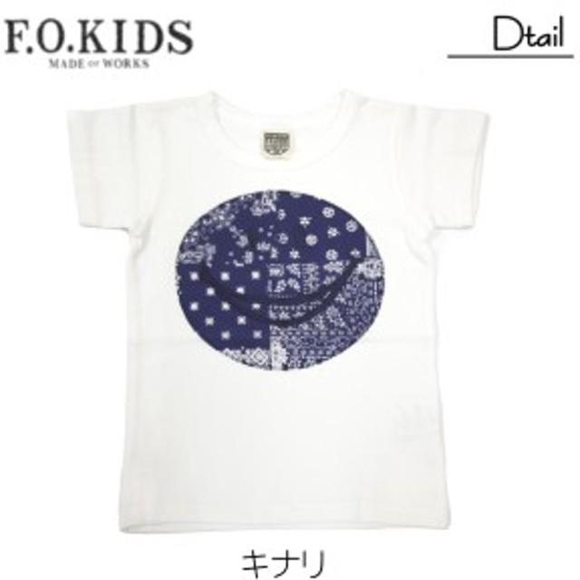 エフオーキッズ【F.O.KIDS】バンダナアップリケTシャツ(100・110)