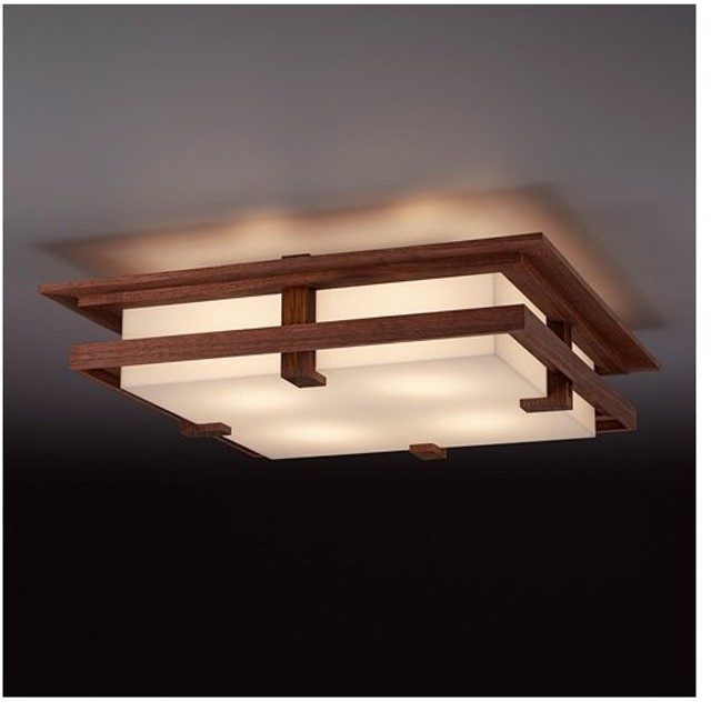 シーリング 天井照明|フランクロイドライト ロビーシーリング ウォルナット
