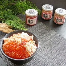 釧路おが和 いくら三色海鮮丼セット[O203-E014]