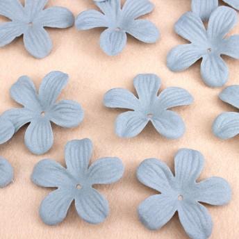 5弁花 フラワー モチーフパーツ 20個セット【グリーン】pt-625 2000円以上で送料無料!