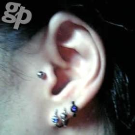JASONさんの耳ピアス★ジュエルビーズリング/16ゲージ(ボールサイズ:4mm)(GG)(M)