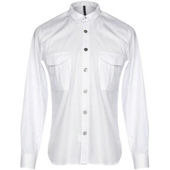 《9/20まで! 限定セール開催中》TAKESHY KUROSAWA メンズ シャツ ホワイト S コットン 97% / ポリウレタン 3%