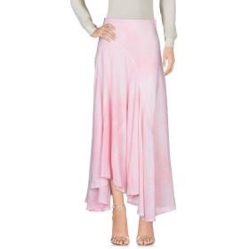 《セール開催中》MICHAEL KORS COLLECTION レディース ロングスカート ピンク 2 100% 麻