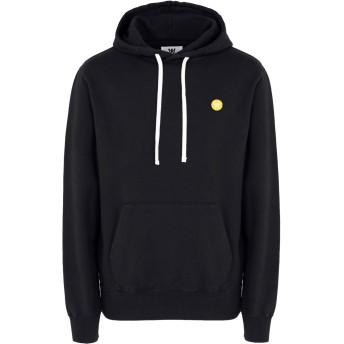 《期間限定セール開催中!》WOOD WOOD メンズ スウェットシャツ ブラック L コットン 100% Ian-hoodie