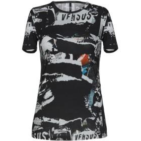 《期間限定セール開催中!》VERSUS VERSACE レディース T シャツ ブラック XXS 94% コットン 6% ポリウレタン
