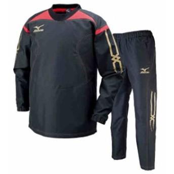 ミズノ タフブレーカーシャツ&パンツ上下セット ブラック MIZUNO R2ME6001-09-R2MF6001-09