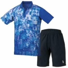 【クーポン対象】ゴーセン ゲームシャツ & ハーフパンツ 上下セット ロイヤルブルー×ブラック