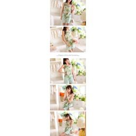 タンクトップ - Miss R TV番組着用 司法教官 穂高美子4 【Miss R PINK】☆メディア掲載商品☆ ヤシの木柄 大人 リゾート 前結び シフォンノースリーブ タンクトップス (3色)