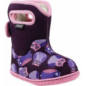 ボグス ブーツ シューズ 靴 キッズ 男の子【Bogs Baby Solids and Prints】Purple Multi Owls