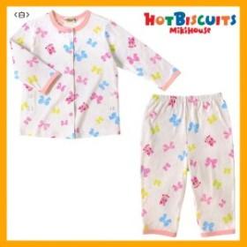 ホットビスケッツ(HOTBISCUITS)キャビットちゃん&リボン前開き長袖パジャマ(90~120)